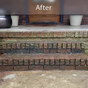 Sinking stairs repaired with PolyLevel® Des Moines