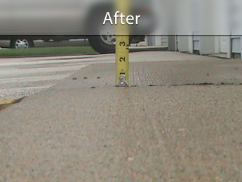 Repairing driveway with concrete leveling in IA