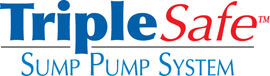 Sump pump system logo for our TripleSafe™, available in areas like Creston
